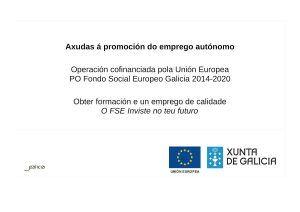 cartel de axuda que concede a xunta de galicia e a union europea
