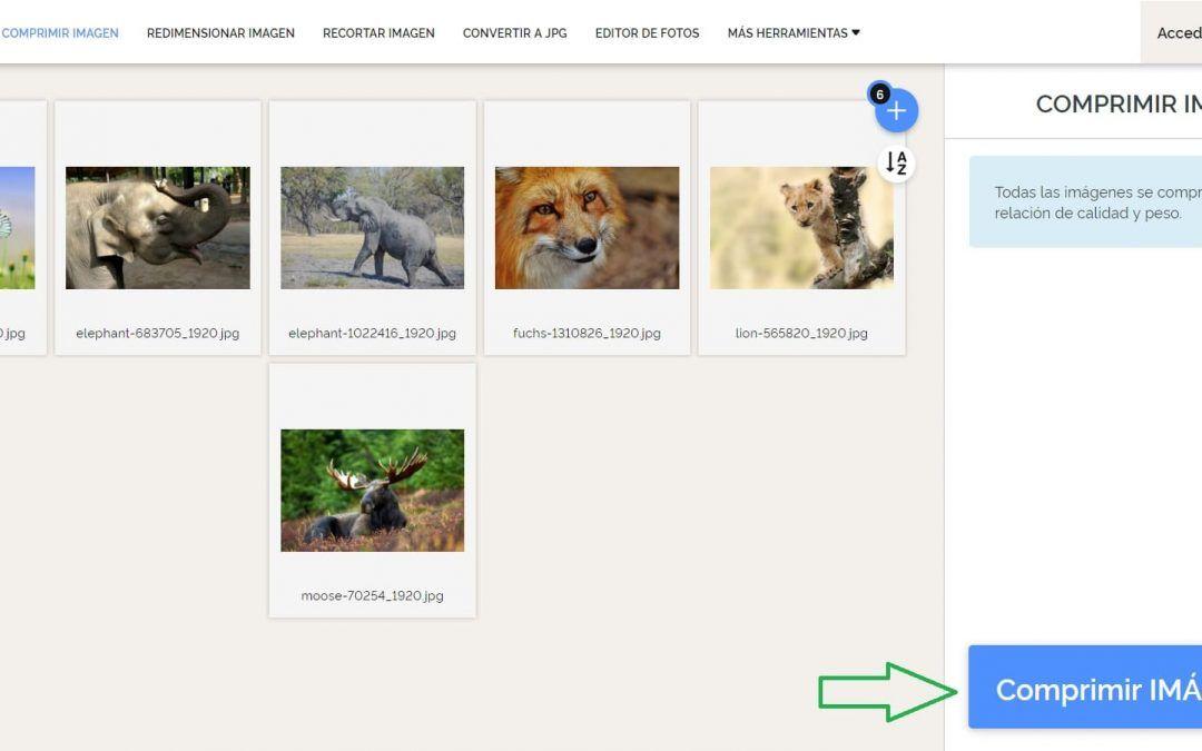 Como Comprimir Imágenes para página web o tienda online