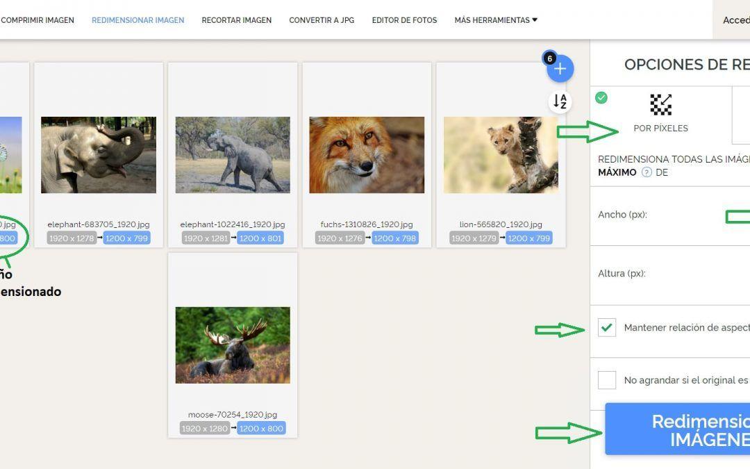Como Redimensionar Imágenes para Página Web o Tienda Online