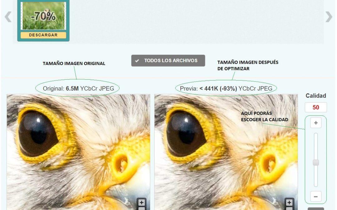 Optimizar imágenes de forma online para Pagina web o Tienda Online